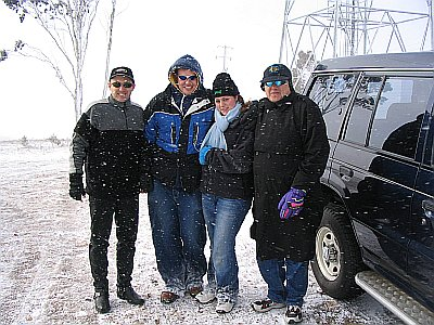 Blizz, Big Willy, Nicole and Max at Shooters Hill