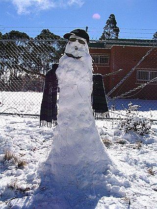 Snowman at Mt Trickett